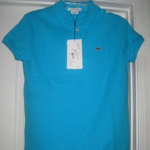 NEW Lacoste Polo Top Sz 8  Pique Stretch Cotton